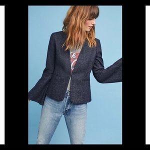 Anthropologie bell-sleeved blazer